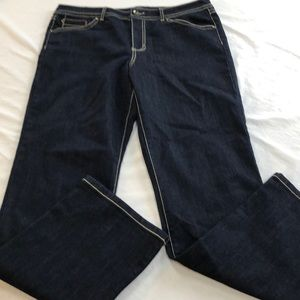 Like new, Bandolino dark jeans, size 14.
